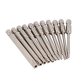 T6-T40-Torx-Bit-Satz-14-Sechskantschaft-75mm-S2-Stahl-Magnetisch-Elektrowerkzeuge-Reparaturstze-11-teilig