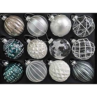 MC-Trend-12er-Set-edle-Glas-Weihnachtskugeln–8cm-Weihnachtsbaum-Kugeln-Christbaumkugeln-Weihnachts-Deko-ROT-Gold-Silber-KLAR
