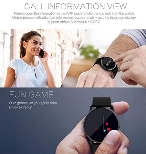 Premewish-Fitness-SmartwatchSmart-Watch-Uhr-mit-Pulsmesser-Wasserdicht-IP67-Fitness-Tracker-Schrittzhler-Schlafmonitor-SMS-und-Anruf-Benachrichtigung-fr-Android-und-iOS