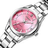 Damen-Uhren-Casual-Fashion-Slim-Wasserdicht-Uhren-Diamant-Strass-Edelstahl-Quarz-Armbanduhr