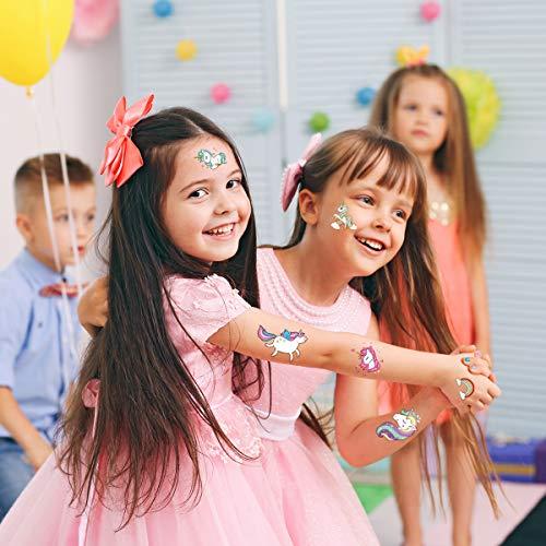 TOYMYTOY-Einhorn-Aufkleber-Tattoo-Einhorn-Nagel-Aufkleber-Unicorn-Sticker-Farbenfrohe-Temporre-Tattoos-Unicorn-Kinder-Geburtstags-Einhorn-Party-Favors-14-Muster