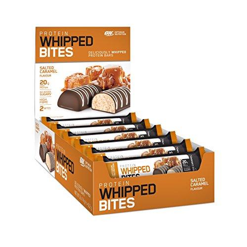 Optimum Nutrition Super softer Protein Bar (mit patentiertem Herstellungsverfahren, Whipped Bites ohne Zuckerzusatz) Salted Caramel
