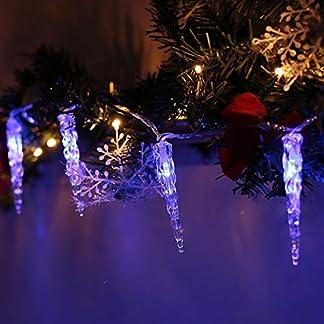 VINGO-40-LED-Eiszapfen-Lichterkette-Lnge-10m-Weihnachten-Beleuchtung-Weihnachtsdeko-Outdoor
