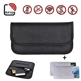 Newseego-RFID-Signalblockierungsbeutel-2X-RFID-Kreditkartenhllen-Anti-Diebstahl-Faraday-Tasche-fr-Autoschlssel-FOB-Handy-Sperrtasche-RFID-Signalabschirmungsbeutel-Mappenkasten