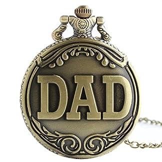 XLORDX-Vintage-Taschenuhr-Herren-Unisex-Quarz-Uhr-mit-Halskette-Kette-uhr-Pocket-Watch-Geschenk-DAD