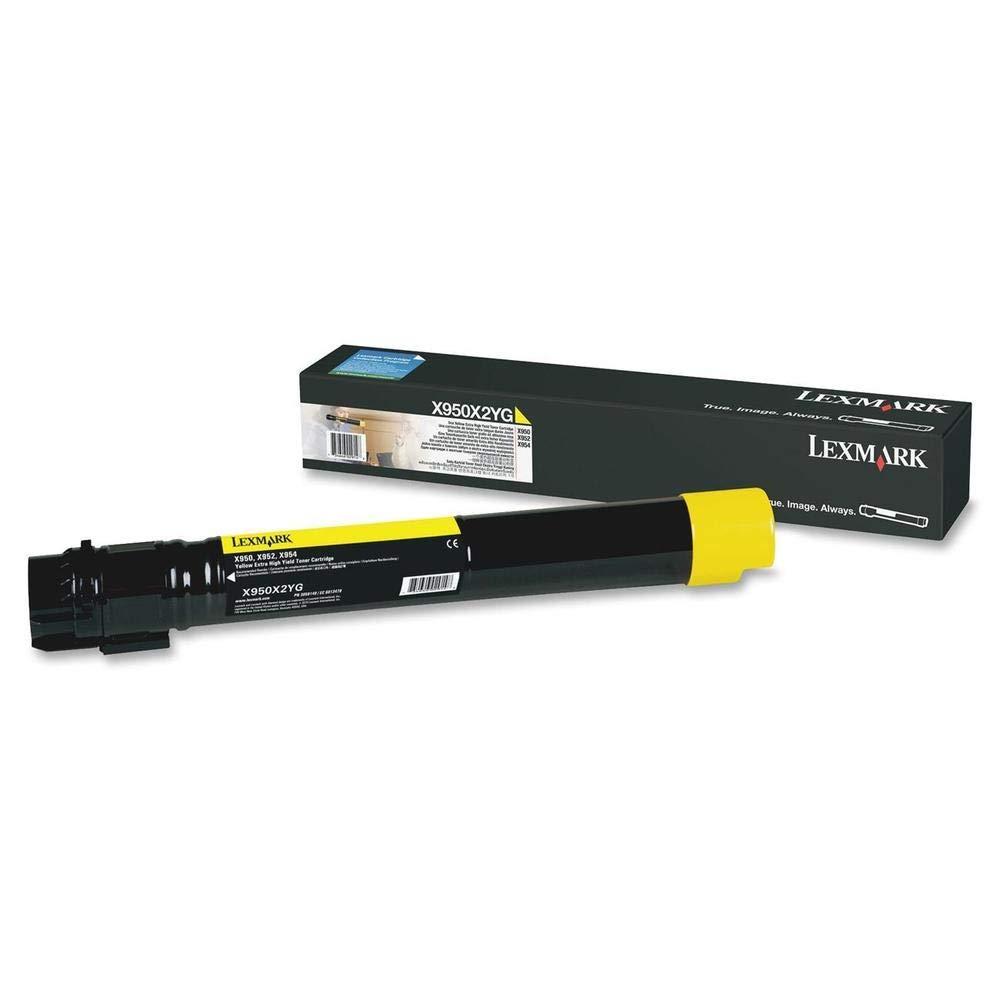 Lexmark-X950X2YG-X950-X952-X954-Tonerkartusche-Extra-Hohekapazitt-gelb