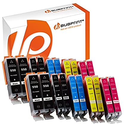 Bubprint-20-Druckerpatronen-kompatibel-fr-Canon-PGI-550-XL-550XL-BK-CLI-551-551XL-fr-Pixma-IP7250-IP8750-IX6850-MG6450-MG7550-MX920-MX925-Multipack