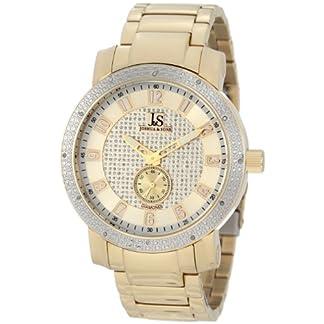 Joshua-Sons-Herren-Armbanduhr-Edelstahl-Diamant-Armband