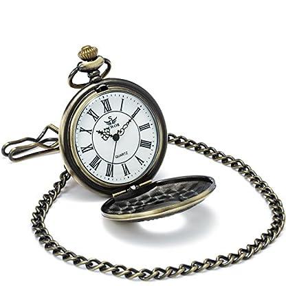 SEWOR-Kleid-Hohl-Fall-Shell-Zifferblatt-Japanisches-Quarz-Uhrwerk-Taschenuhr-mit-Fashion-Double-Kette-Metall-Leder