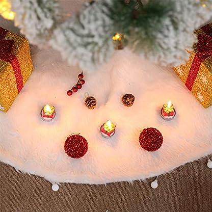 About1988-Weier-Plsch-Weihnachtsbaum-Rock-Kunstfell-Weihnachtsbaum-Rcke-Rund-Wei-Weihnachtsbaumdecke-Christbaumstnder-Teppich-Decke-Weihnachtsbaum-Deko