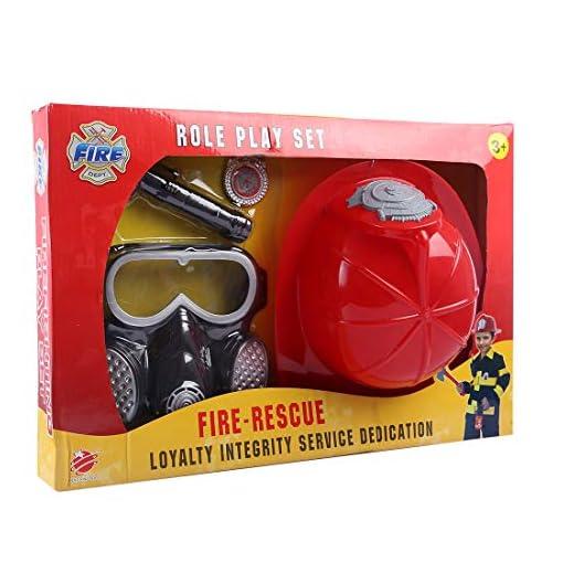 Likeluk-Feuerwehr-Ausrstung-Set-4-Teiliges-Feueranzug-Werkzeug-mit-Helm-Gasmaske-fr-Kinder-Feuerwehr-Rollenspiel-Spielzeug