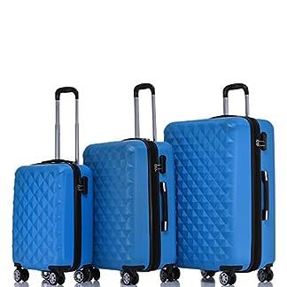 BEIBYE-Zwillingsrollen-2066-Hartschale-Trolley-Koffer-Reisekoffer-Gepck-M-L-XL-Set