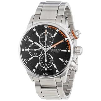 Maurice-Lacroix-Herren-pt6008-ss002332-Pontos-schwarz-Chronograph-Zifferblatt-Armbanduhr