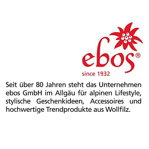 """ebos Filzmanschette ✓ passend zu ebos Coffee-to-Go-Becher aus Bambus ✓ 100% Wollfilz (""""Lieblingsmensch"""" – hellgrau)"""