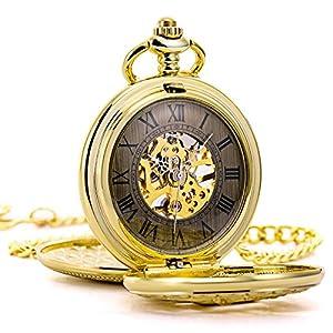 TREEWETO-taschenuhr-mit-kette-herren-gold-doppelabdeckungen-rmische-ziffern-retro-uhr-hirsch-rentier-taschenuhren-mechanisch-pocket-watch