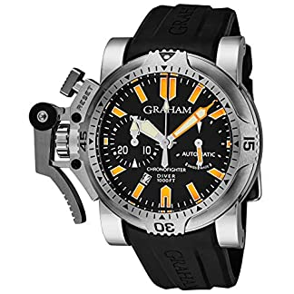 Graham-Herren-Armbanduhr-47mm-Armband-Kautschuk-Schwarz-Automatik-2OVESB02B