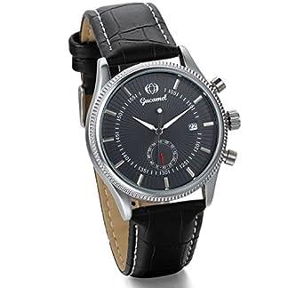 JewelryWe-Herren-Armbanduhr-Klassiker-Business-Casual-Kalender-mechanische-Mechanik-Uhr-mit-Leder-Armband-Schwarz