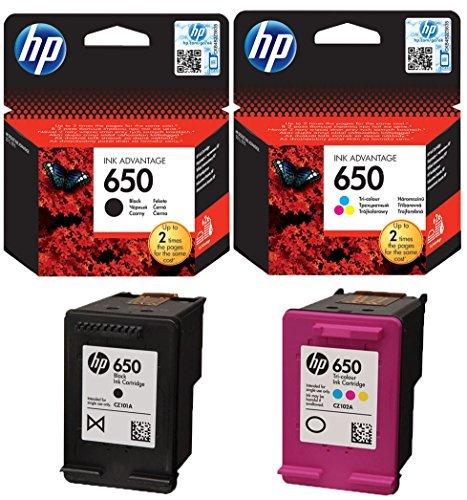 HP-650-Original-Tintenpatronen-in-Schwarz-und-Farbe