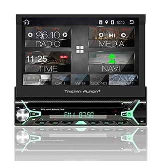 Tristan-Auron-BT1D7022A-Autoradio-mit-Android-81-7-Touchscreen-Bildschirm-GPS-Navigation-Bluetooth-Freisprecheinrichtung-Quad-Core-Prozessor-Mirrorlink-USB-SD-OBD-2-DAB-I-1-DIN