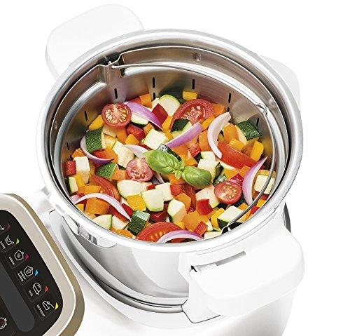 Krups-PrepCook-HP5031-Multifunktions-Kchenmaschine-1550-Watt-bis-zu-12000-Umin-mit-Kochfunktion-weiedelstahl-Krups-Dampfgaraufsatz