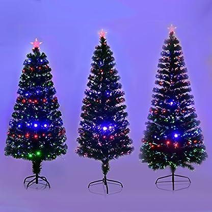 COSTWAY-LED-Weihnachtsbaum-Knstlicher-Tannenbaum-Christbaum-beleuchtet-150180210cm-Grn-mit-Glasfaser-Farbwechsler
