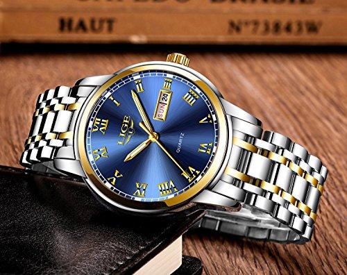 Herren-Uhren-Mode-einfachen-Stil-Sport-Quarz-Uhr-Edelstahl-Armbanduhr-Marke-Luxus-Business-Wasserdicht-Armbanduhr-Blau