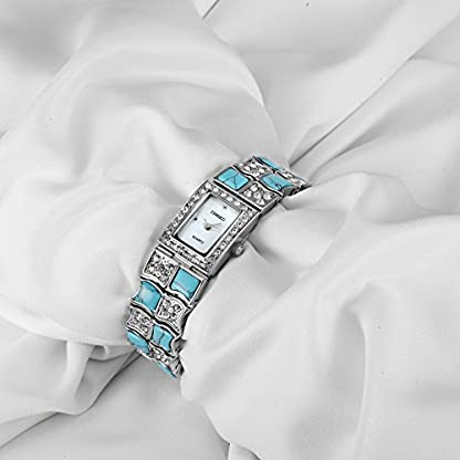 TIME100-Damen-Retro-Armkette-Armband-Armbanduhr-Diamant-Square-Analog-Quarz-W50124L02A