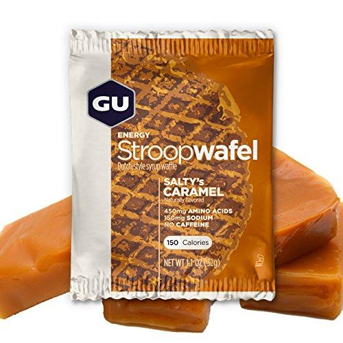 GU Stroopwafel Saltys Caramell- Kohlenhydrat-Sirupwaffel – Box, 1er Pack (1 x 512 g)