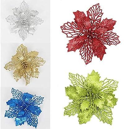 10-PCS-Weihnachtsbaum-Decoration-Glitter-Knstliche-Hochzeit-Weihnachten-Blumen-Party-und-Haus-Dekoration-In-fnf-Farben-erhltlich