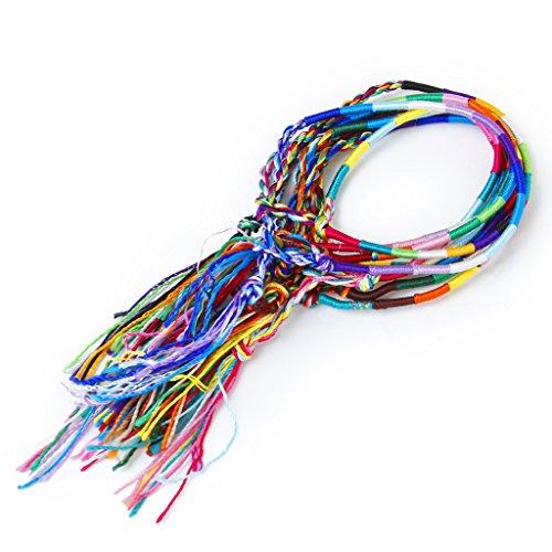 9 Stk. Bunte Handmade Geflochtene Thema Freundschaftsbänder Knöchel-Armband Hippie # 1 (zufällige Farbe)