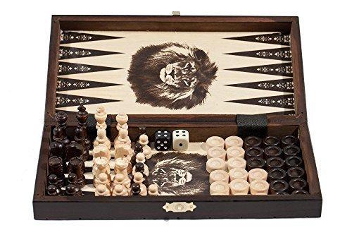 76cm-1-Hlzernes-Schach-Backgammon-Damespiel-SET-KLEIN
