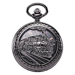 TREEWETO-taschenuhr-mit-kette-herren-schwarz-retro-dampflokomotive-rmische-ziffern-taschenuhren-mechanisch-pocket-watch