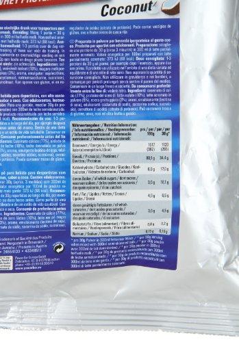 PowerBar Casein Whey Protein-Pulver – Protein Plus 80% – Eiweißpulver ohne Farbstoffe und Aspartam –Protein Shake – 500g Kokos