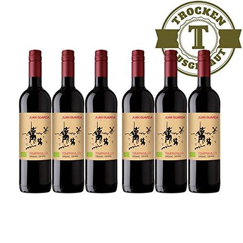 Rotwein-Spanien-Tempranillo-BIO-2015-trocken-6-x-075l-VERSANDKOSTENFREI