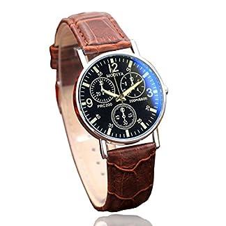Hansee-Quartz-Herrenuhr-Six-Pin-Uhren-Blau-Glasgrtel-Uhr-Herren