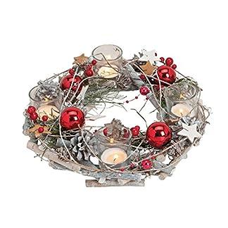 GW-GmbH-Adventskranz-Christmas-Red-Kugeln-rot-Sterne-Tischkranz-Teelichthalter-Kerzenhalter-Holz-Natur-Kranz-Dekokranz-Weihnachten-Weihnachtsdeko