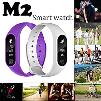 Bluetooth-Smartwatch-Fitness-Uhr-Intelligente-Armbanduhr-Fitness-Tracker-Smart-Watch-Sport-Uhr-M2-Pedometer-Smart-Armband-Herzfrequenz-Bluetooth-40-fr-Android-und-IOS-Smartphones-Damen-Herren