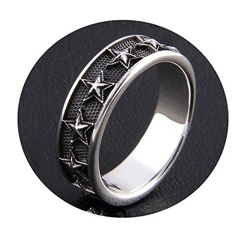 Beydodo 925 Silber Ring Herren Sterne Freundschaftsring Silber