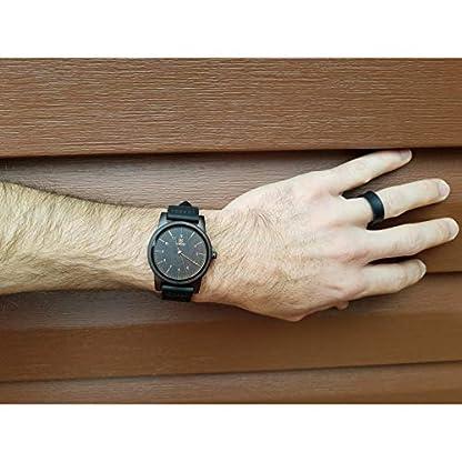 MUJUZE-Herren-Analoge-Japanisch-Quarzwerk-40mm-Sandelholz-Ziffernblatt-Holzuhren-mit-Schwarz-Leder-Armband-