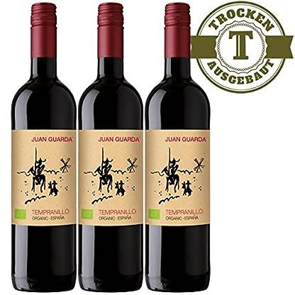Rotwein-Spanien-Tempranillo-BIO-2015-trocken-3-x-075l-VERSANDKOSTENFREI