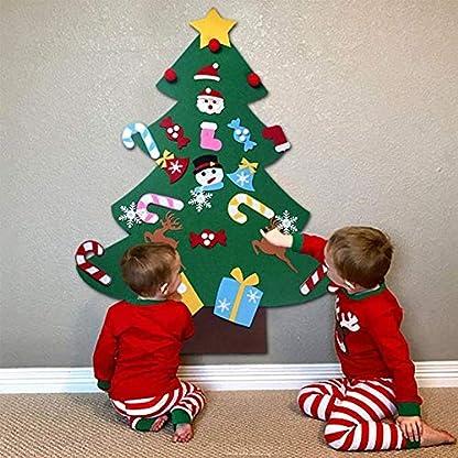 Abracing-Weihnachtsbaum-Filz-Weihnachtsbaum-grnen-Weihnachtsbaum-DIY-Filz-Weihnachtsbaum-Bildung-Geschenk-Wandbehang-Dekoration-fr-Kinder-Kinder-umweltfreundliche-Bunte-Weihnachten