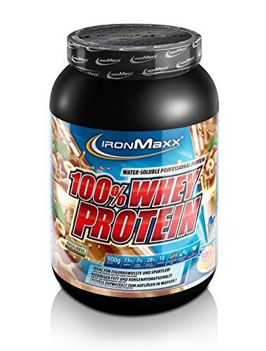IronMaxx 100% Whey Protein / Whey Haselnuss Eiweißshake / Wasserlösliches Proteinpulver mit Haselnuss Geschmack / 1 x 900 g Dose