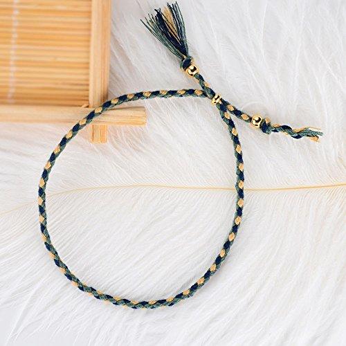 CheersLife 10 Freundschaft Armbänder für Frauen Mädchen Handgefertigt Geflochten Wickelarmband Multicolor Woven Dünn Saiten