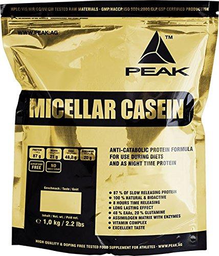 Peak Micellar Casein – Milk Protein, Cocos, 1er Pack (1 x 1 kg)