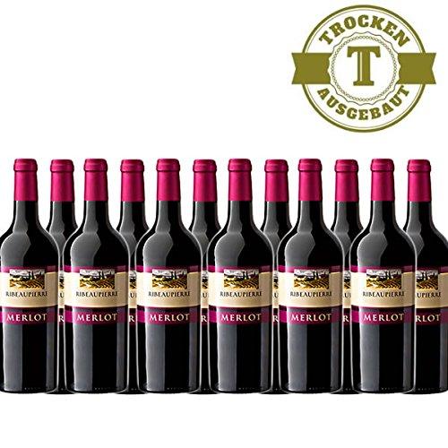 Rotwein-Frankreich-Ribeaupierre-Merlot-trocken-2015-12x075L-VERSANDKOSTENFREI