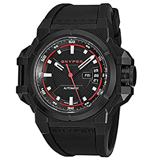 Snyper-Herren-Armbanduhr-43mm-Armband-Kautschuk-Schweizer-Automatik-2020000