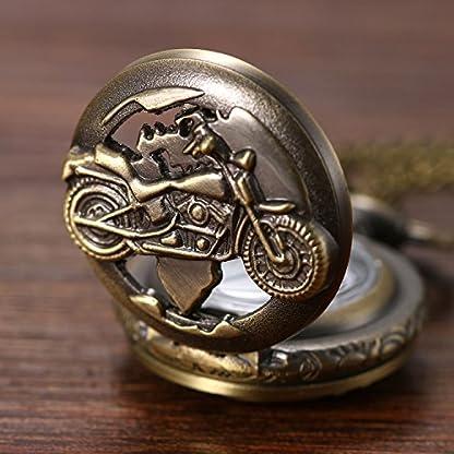 Weihnachten-Lancardo-Herren-Vintage-Motorrad-Taschenuhr-Bronze-Analog-Quarz-Hohe-Openwork-Uhr-mit-Halskette-Kette-Umhngeuhr-Pocket-Watch-Geschenk