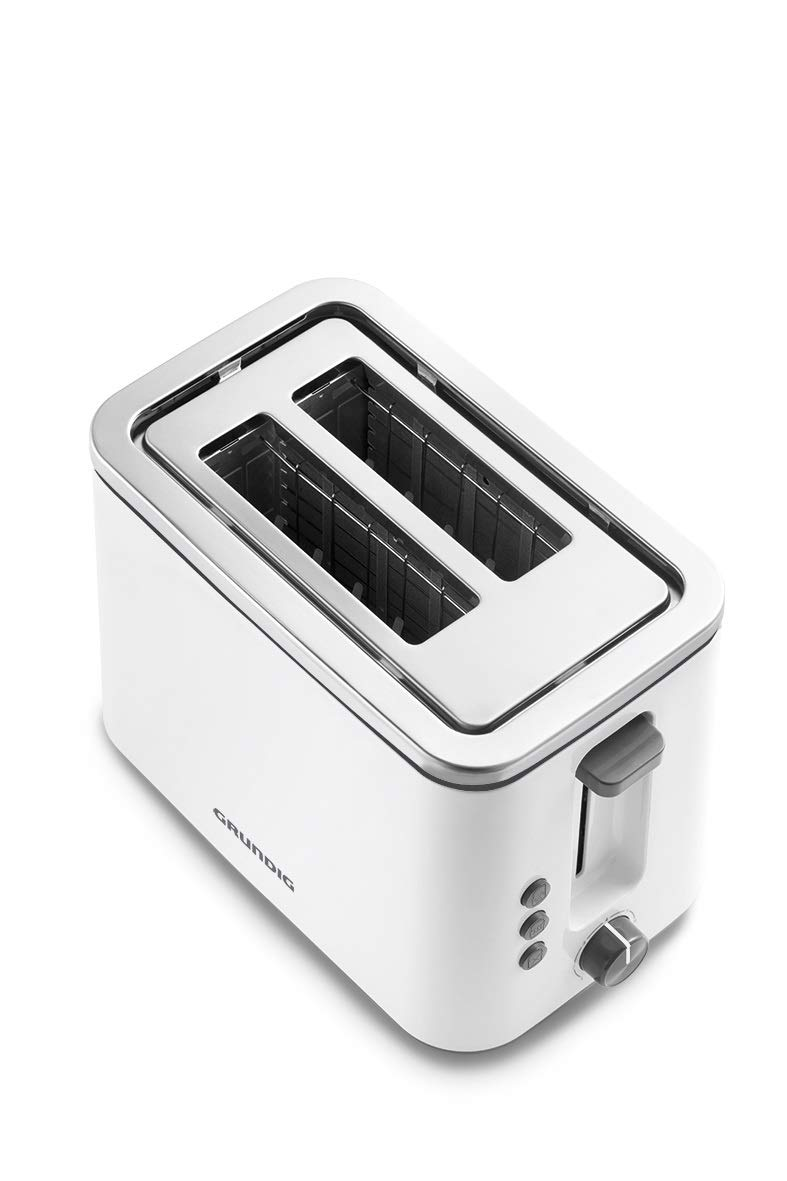 Grundig-TA-5860-Toaster-800W-6-Brunungsstufen-Memoryfunktion-800-WeiSchwarz