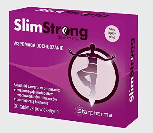 Slim Strong | 30 Tabletten (vegan) | Natürlicher Fatburner |Unterstützung für die natürliche Entgiftung | L-Carnitin + Roter Tee Extrakt + Bohnensamen | Pharmaqualität