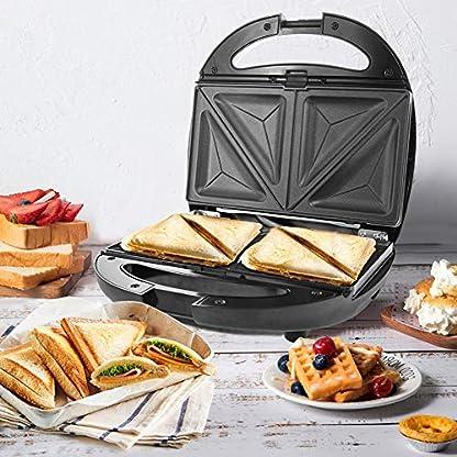 NWOUIIAY-Sandwich-Toaster-Sandwichtoaster-Sandwich-Waffles-Plate-4-IN-1-850W-Sandwichmaker-mit-4-antihaftbeschichteten-und-herausnehmbaren-Kochplatten